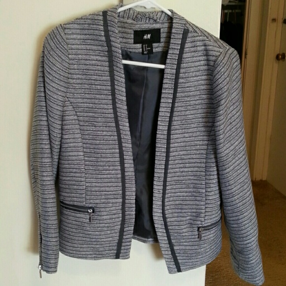 2a4462f61378 H&M Jackets & Coats | Chanel Inspired Blazer Hm Jacket | Poshmark