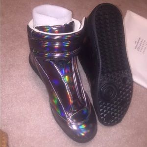 maison margiela holographic sneakers