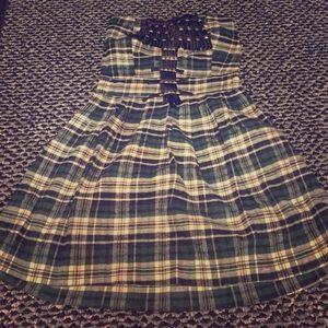 LF Stores Chandelier Plaid dress. NWT