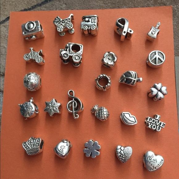 Pandora Jewelry 3 For Silver Charms For Bracelets Poshmark