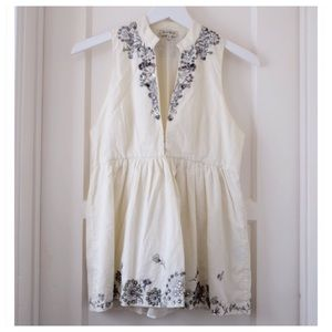 SUNO Tops - Suno Embellished Sleeveless Blouse