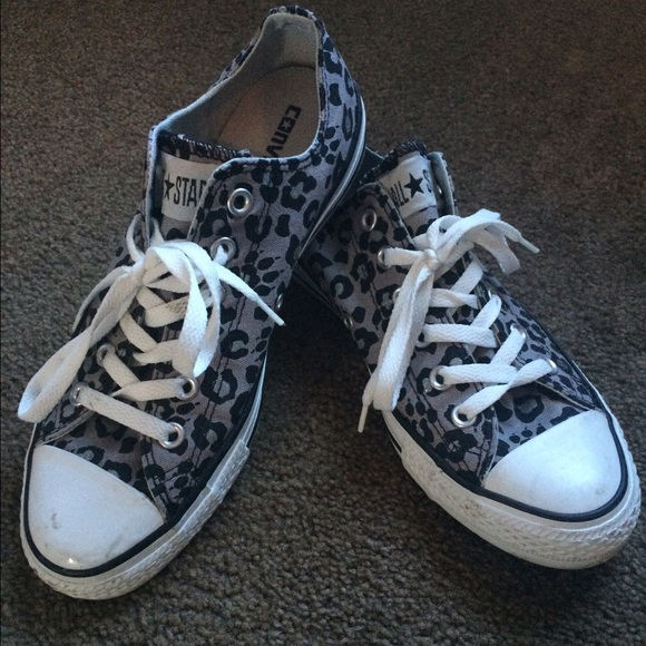 reputable site the best attitude new list Black and grey leopard Converse!