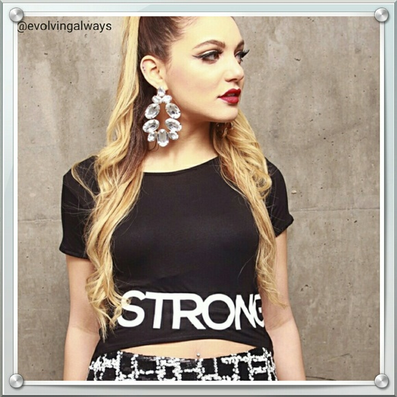 Woman's Touch Apparel Tops - Designer Hi-Lo T-shirt Strong Woman