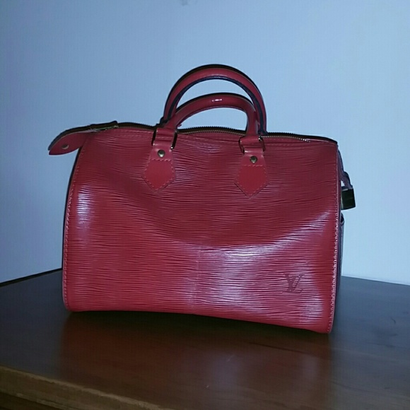 7a084eb3e2f Louis Vuitton Handbags - Louis Vuitton red epi leather vintage speedy bag
