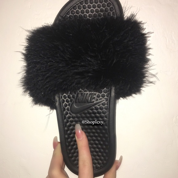 Popular First Look At Parme Marins Moroccan Fur Slides  Footwear News