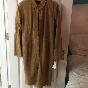 NWT Ralph Lauren suede leather dress/jacket