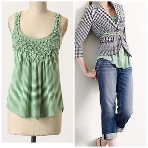 "Anthropologie one September ""button seeds tank"""
