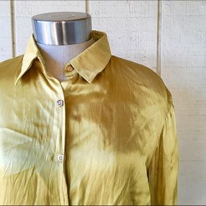 Roberto cavalli silk crinkle top