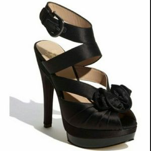 Joan & David Shoes - Joan & David Black Satin Heel