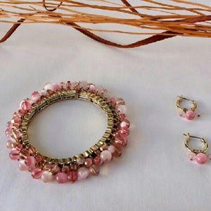 Jewelry - Gold bracelet & earring set