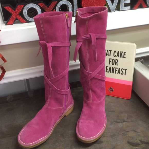 66 kate spade shoes kate spade pink suede boots