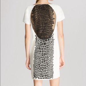 Halston Heritage Dresses & Skirts - Halston heritage white shift dress w/ black detail