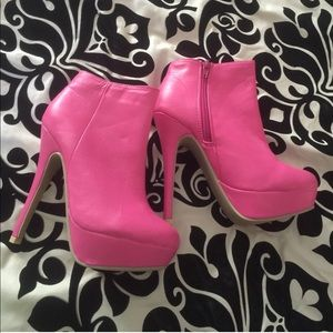 ddba552284bd Ami clubwear Shoes - Hot pink booties NEW