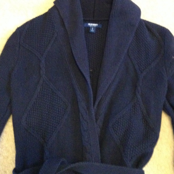 50% off Old Navy Sweaters - Old Navy belted cardigan with stitch ...