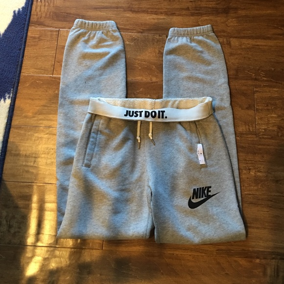 new varieties no sale tax exceptional range of styles and colors Nike just do it roll down waistband sweatpants xs NWT