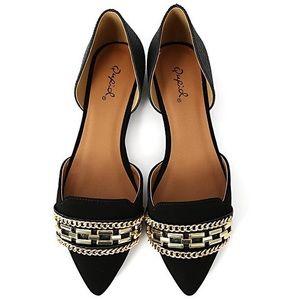 Qupid Shoes - ❤️HOST PICK❤️NWT Qupid Black Pointed D'Orsay Flats