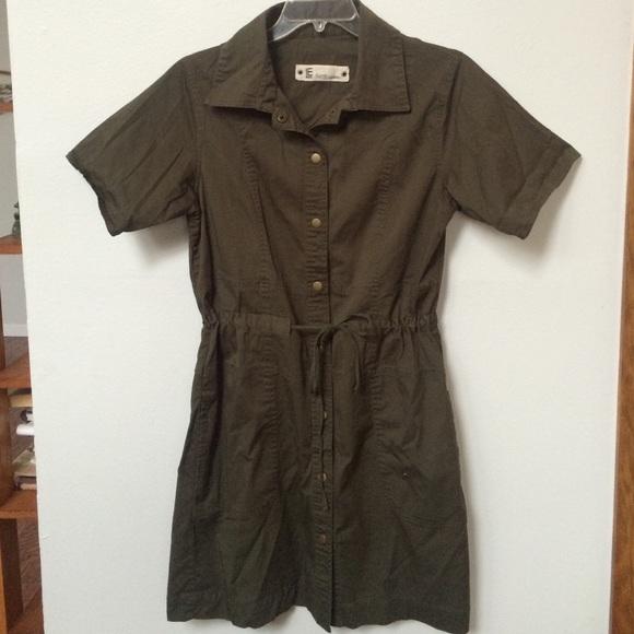 d59e03c9145 Elliott Lauren Dresses   Skirts - Army button down shirt dress