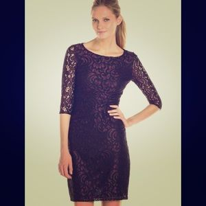 Adrianna Pappell Lace Sheath Dress