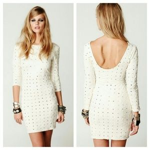 {free people} long sleeve sequin dress