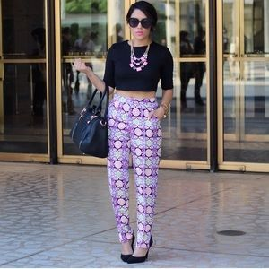Missguided Pants - Neon Printed Pants