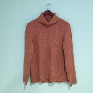 Turtleneck cable-knit sweater from J.Crew