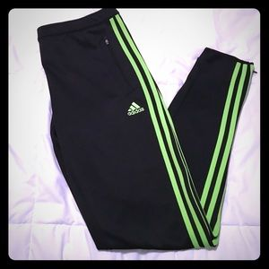 arrepentirse exótico Puede soportar  adidas Pants & Jumpsuits | Adidas Neon Green And Black Soccer Pants |  Poshmark