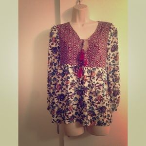 Floral long sleeved blouse from Altar'd State