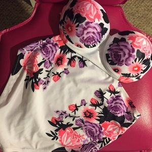 Other - High waisted floral bathing suit set