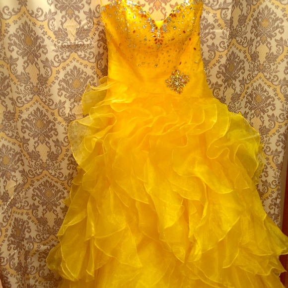 TT New York Dresses | Gold Ttny Prom Dress | Poshmark
