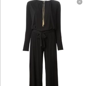 e2e65632f2c MICHAEL Michael Kors Pants - Michael Kors black jumpsuit with silver chain  tie