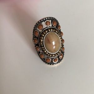 New brown stretchy one size fits all ring