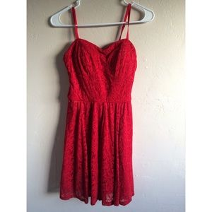 Candie's Dresses & Skirts - Red lace dress, brand new with tags
