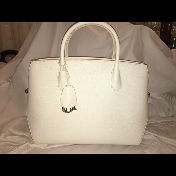 Dior Handbags - Dior Leather Large Structure White Tote Bag