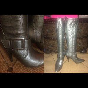 BCBGirls high dark silver boots