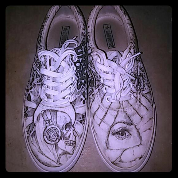 Converse Shoe Drawing Art