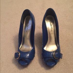 Blue heels size 7