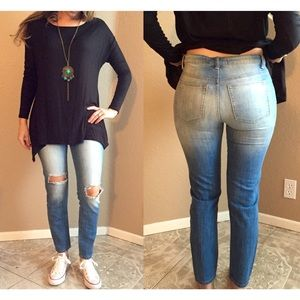 Nasty Gal Denim - Faded Distressed Jeans (LAST SMALL!)