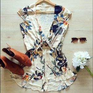 Pants - Floral Playsuit in Small.