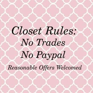 Thank you for following and shopping in my closet.
