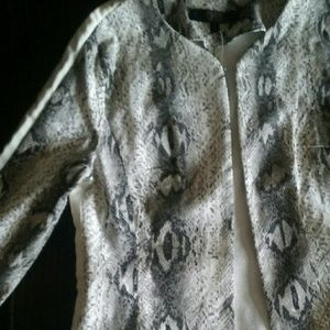 Classy white/snake print blazer??