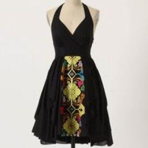 Anthro Palenque Halter Dress