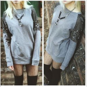 Urban Outfitters Ecote Embroidered Sequins Sleeve