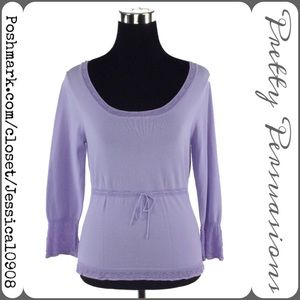 The Limited Tops - The Limited Lavender Rayon Top