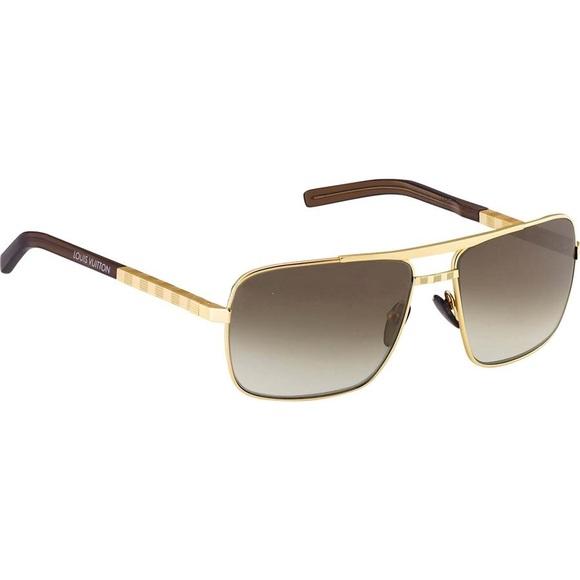 a70ad07946c Louis Vuitton Accessories - Louis Vuitton gold Attitude sunglasses