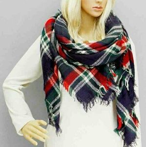 SALOversized Tartan Blanket Scarf