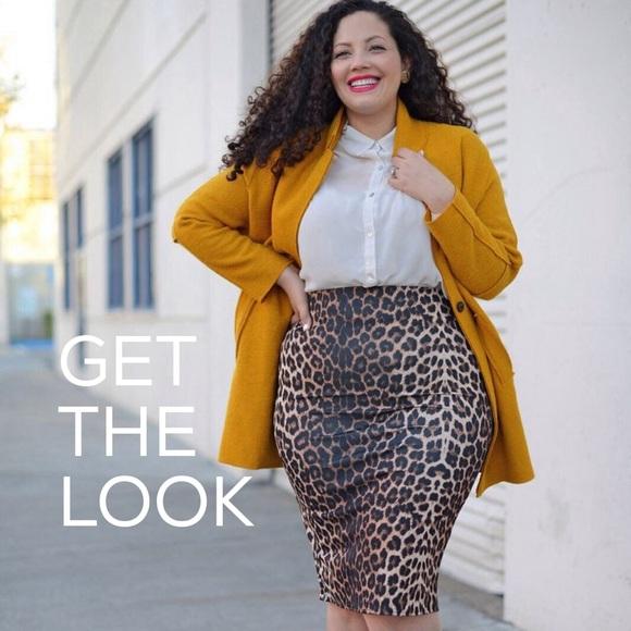 31ae45a8468 Lane Bryant Dresses   Skirts - 🔥Plus size leopard pencil skirt