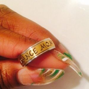 Jewelry - Custom Engraved Ring Dance Mom