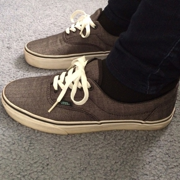aebc0176b9 Vans Shoes - ✨Must go! Gray Black vans with white laces
