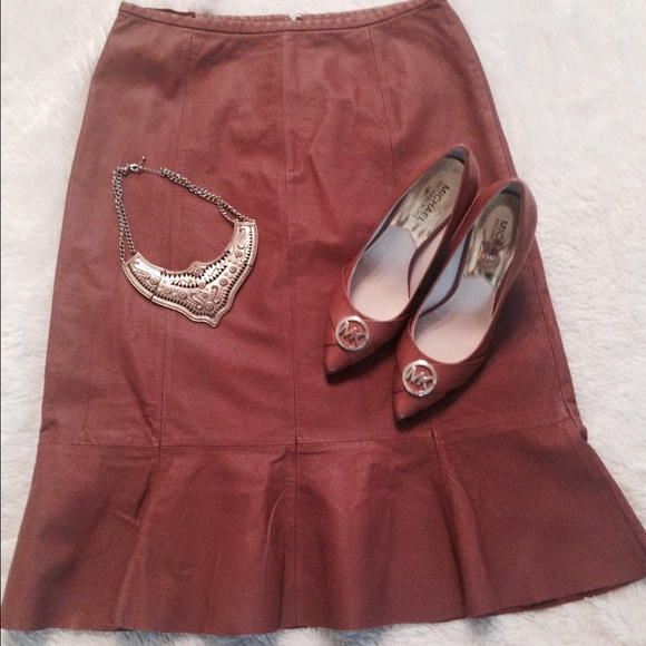 75 newport news dresses skirts leather skirt from