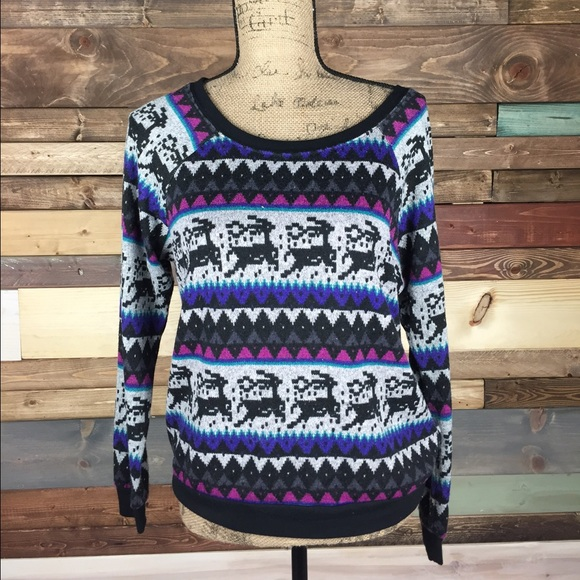 83% off Forever 21 Sweaters - Reindeer Fair-isle Sweater from ...